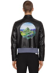 Kenzo Printed Lambskin Leather Jacket Black