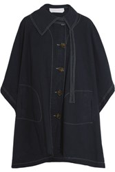 See By Chloe Cotton Canvas Cape Midnight Blue