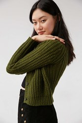 Unif Chloe Cardigan Sweater Green