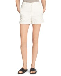 Vince Stretch Cotton Utility Shorts White