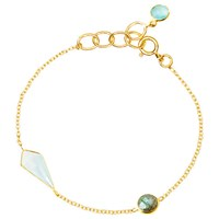 Auren 18Ct Gold Plated Sterling Silver Semi Precious Stone Bracelet Gold Multi