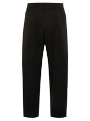 Givenchy Wrapped Tailored Wool Trousers Black