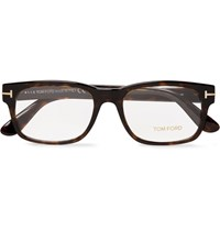 Tom Ford Justin Metal And Acetate Square Frame Polarised Sunglasses Brown