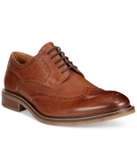 Alfani Tyler Wing Tip Derby Oxfords Only At Macy's Men's Shoes Dark Tan