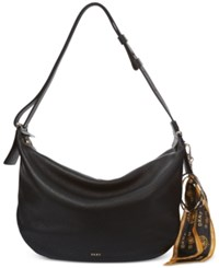 Dkny Large Hobo With Scarf Keychain Created For Macy's Black