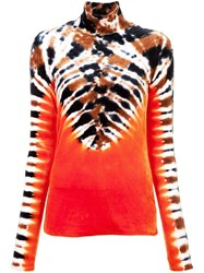 Proenza Schouler Tie Dye Turtleneck Sweatshirt Orange