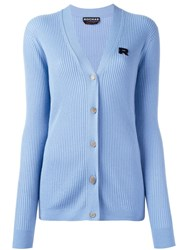 Rochas Ribbed Cardigan Blue