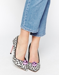 Miss Kg Candy Leopard Print Heeled Shoes Pink