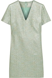 Richard Nicoll Metallic Wool Blend Jacquard Dress