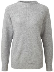 Pure Collection Fernbrook Slouch Sleeve Jumper Heather Grey