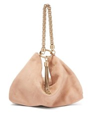 Jimmy Choo Callie Suede Clutch Bag Light Pink
