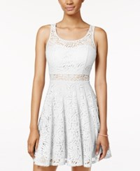 American Rag Lace Illusion Skater Dress Only At Macy's Egret