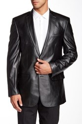 Marc New York Classic Fit Faux Leather Sportcoat Black