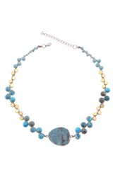 Nakamol Design Orchids Necklace Turquoise