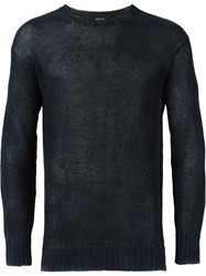 Avant Toi Distressed Sweater Blue