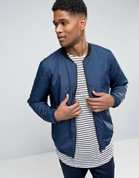 Only And Sons Lightweight Bomber Jacket Dress Blue