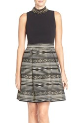 Women's Vince Camuto Embellished Sleeveless Fit And Flare Dress