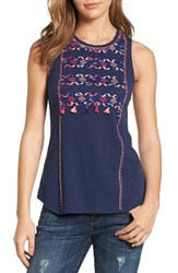 Lucky Brand Women's Embroidered Cotton Tank
