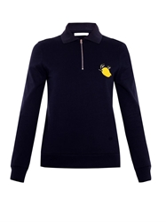 J.W.Anderson Lemon Embroidered Polo Sweatshirt