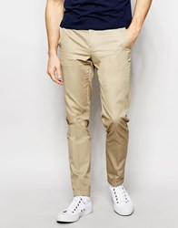 Sisley Slim Fit Chino With Turn Up Beige