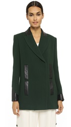 Maiyet Double Breasted Pea Coat Dark Green