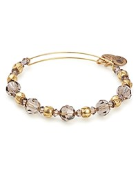Alex And Ani Moon Swarovski Crystal Beaded Expandable Wire Bangle Champagne Gold