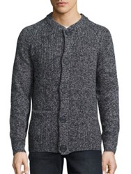 Wesc Lamb Wool Blend Button Front Sweater Grey Melange