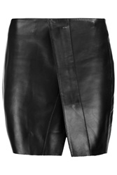 Acne Studios Kay Leather Mini Wrap Skirt Black