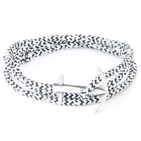 Anchor And Crew Admiral Rope And Silver Bracelet White Noir