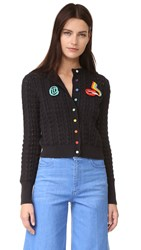 Olympia Le Tan Cardigan Dutches Jacket Black