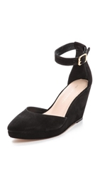 Loeffler Randall Jules Low Wedge Pumps Black