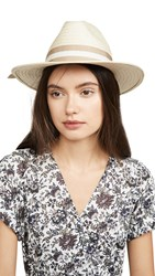 Madewell Classic Flat Brim Straw Hat With Ribbon Natural Straw