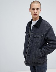 Lee Sherpa Denim Jacket Black Stone Black Stone