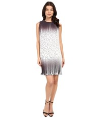 Rsvp Provence Georgette Dress Black Ivory Ombre Women's Dress White