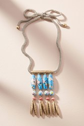 Anthropologie Painted Skies Pendant Necklace Blue