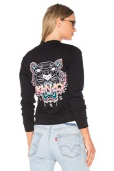 Kenzo Embroidered Tiger Bomber Jacket Black