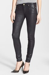 Women's 7 For All Mankind 'The Skinny' Faux Leather Skinny Pants Black