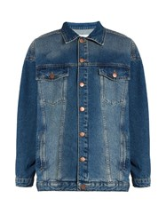 Raey Displaced Sleeve Oversized Denim Jacket Indigo