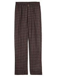 Morpho Luna Maya Cotton And Silk Blend Pyjama Trousers Burgundy