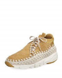 Nike Men's Air Footscape Woven Chukka Sneaker Brown Gold Brown Gold