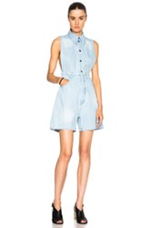 Maison Martin Margiela Mm6 Maison Margiela Stone Washed Romper In Blue
