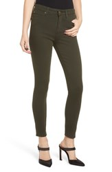 Leith High Waist Ankle Skinny Jeans Green