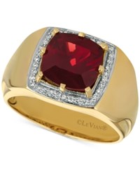 Le Vian Gents Pomegranate Garnet 4 3 8 Ct. T.W. And Diamond 1 6 Ct. T.W. Ring In 14K Gold Yellow Gold
