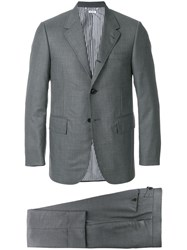 aceed59f638 Thom Browne Wide Lapel Wool Twill Suit Grey