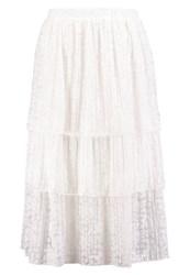 Vila Vielaine Aline Skirt Cloud Dancer Off White