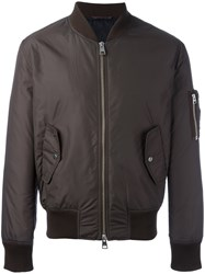 Ami Alexandre Mattiussi Zipped Bomber Jacket Brown