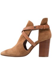 Hudson H By High Heeled Ankle Boots Cognac