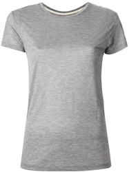 J Brand Round Neck T Shirt Grey