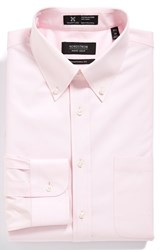 Nordstrom Men's Big And Tall Men's Shop Smartcare Tm Traditional Fit Pinpoint Dress Shirt Pink