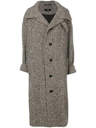Y's Oversized Single Breasted Coat Nude And Neutrals